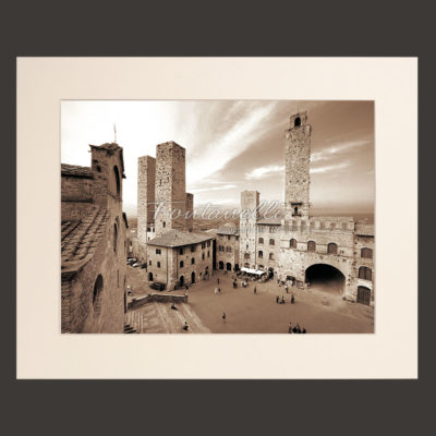 san gimignano tuscany landscape picture for sale passepartout 42