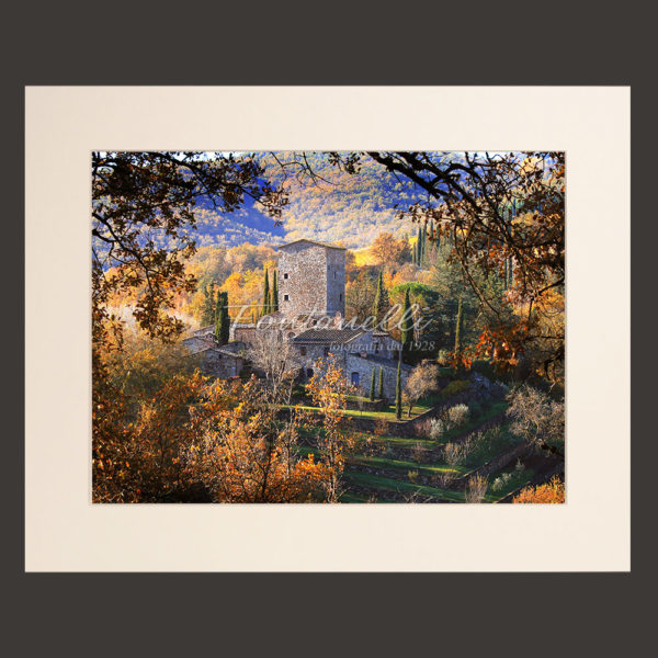 tuscany landscape picture for sale passepartout 32