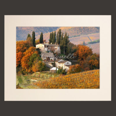 tuscany landscape picture for sale passepartout 27