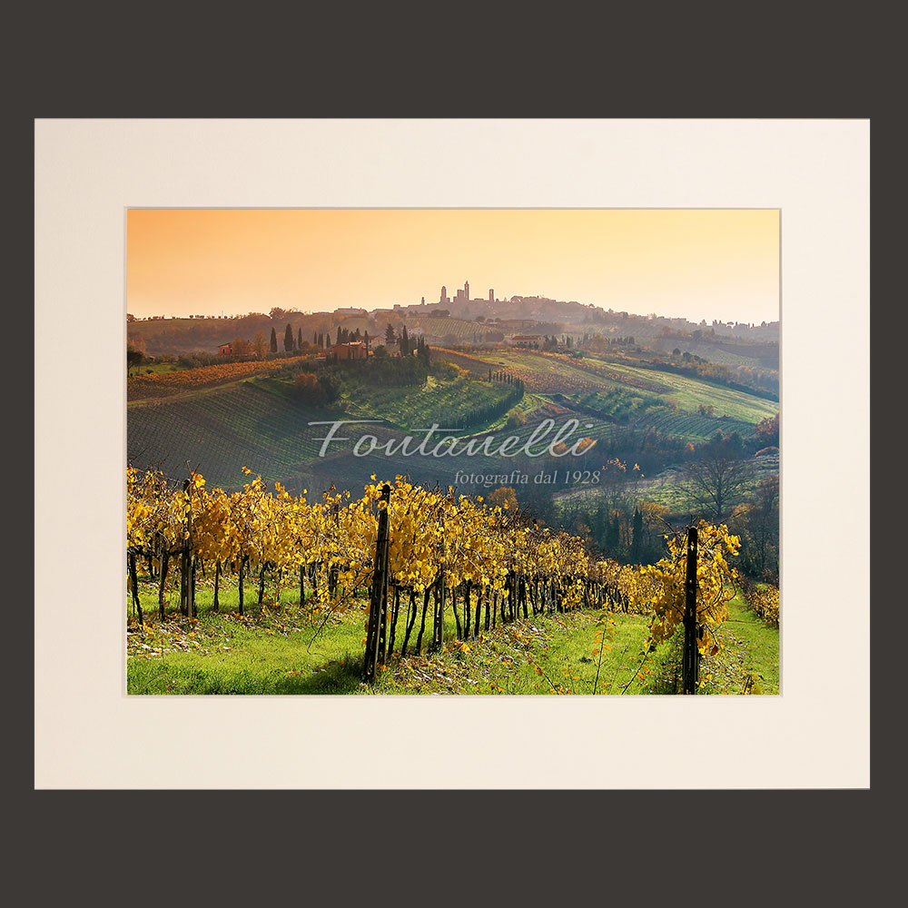 tuscany landscape picture for sale passepartout 21