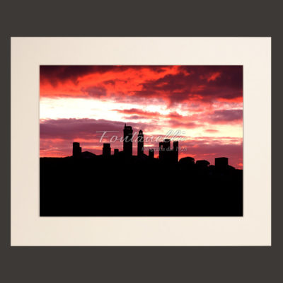 tuscany landscape sunset picture for sale passepartout 5