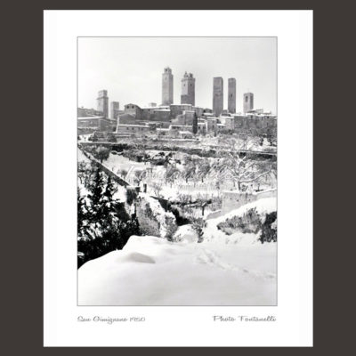 historic picture san gimignano tuscany winter