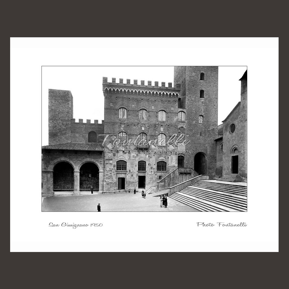 historic picture san gimignano tuscany black and white 59