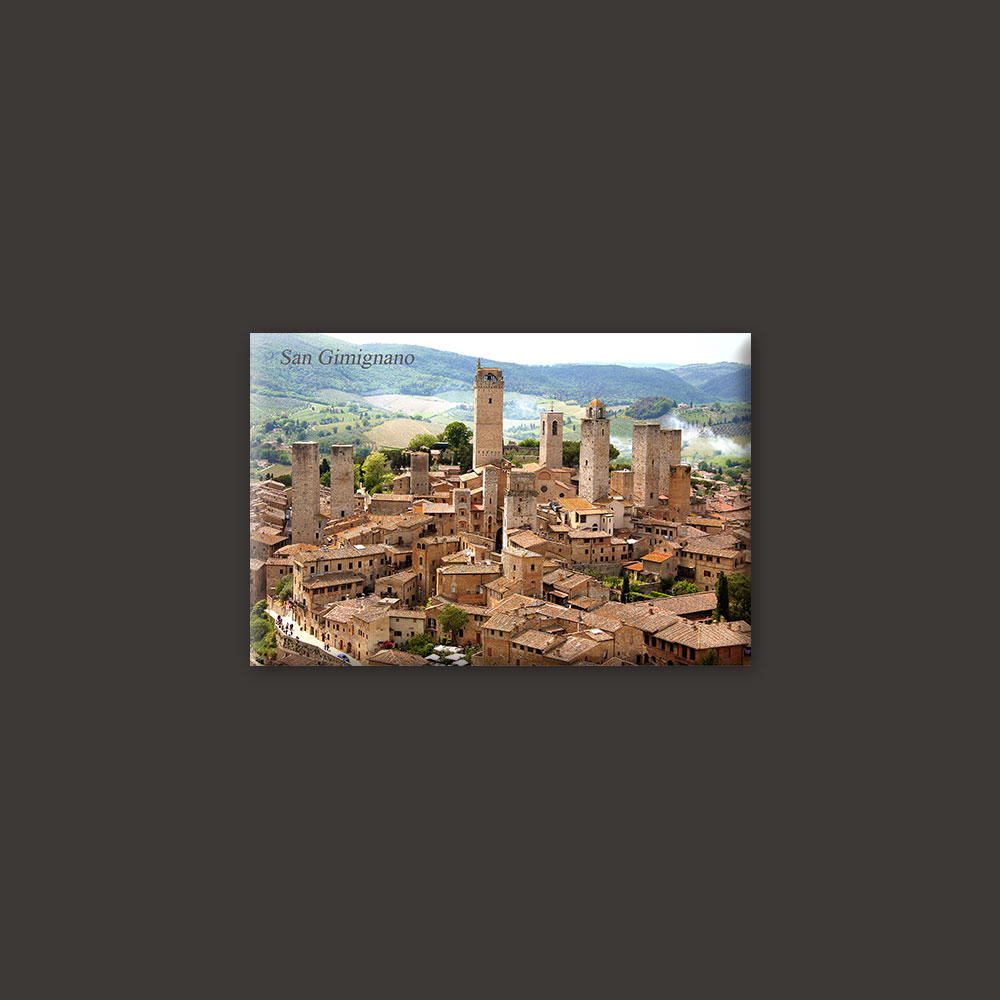 San Gimignano town in Tuscany magnet