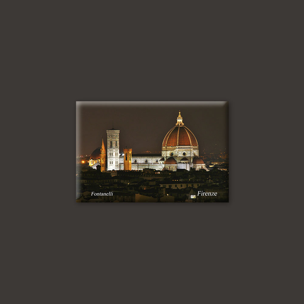 Florence Duomo by night magnet
