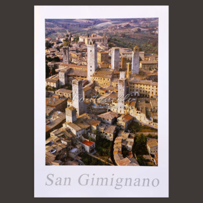 San Gimignano and Tuscany poster for sale online 3