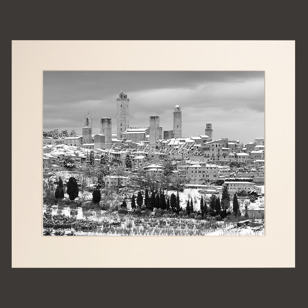 Tuscany landscape black and white picture for sale #1