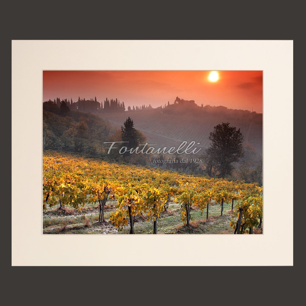 tuscany landscape picture for sale passepartout 41