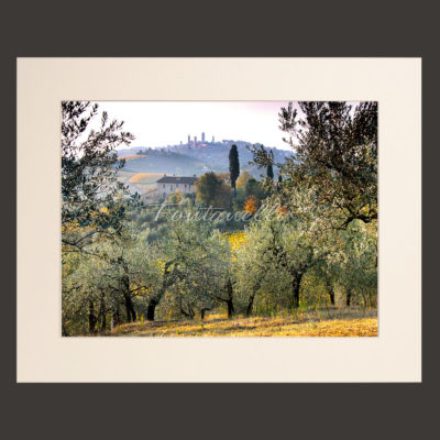 tuscany landscape picture for sale passepartout 28