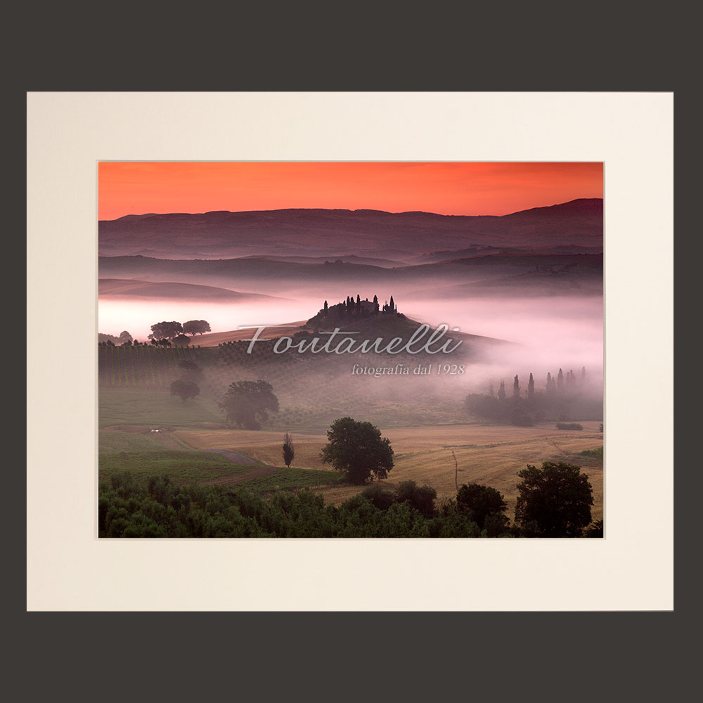 tuscany landscape sunset picture for sale passepartout 22