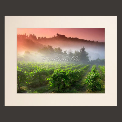 tuscany landscape picture for sale passepartout 14