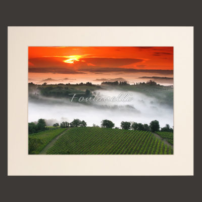 tuscany landscape picture for sale passepartout 13
