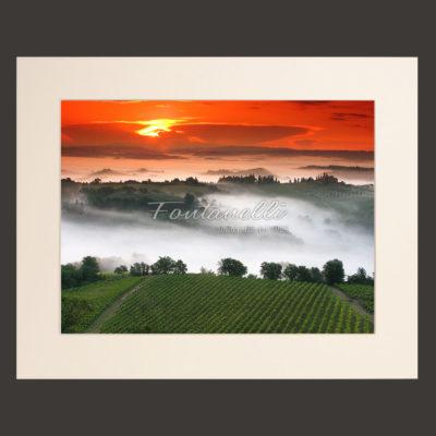 tuscany landscape picture for sale passepartout 13