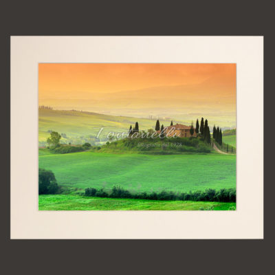 tuscany landscape picture for sale passepartout 9
