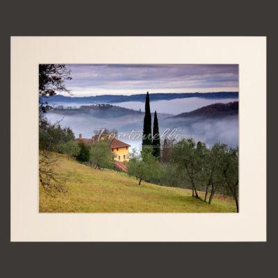 tuscany landscape picture for sale passepartout 3