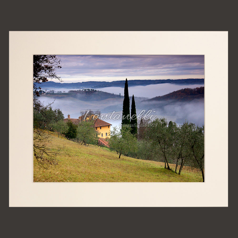 tuscany landscape picture for sale passepartout 3