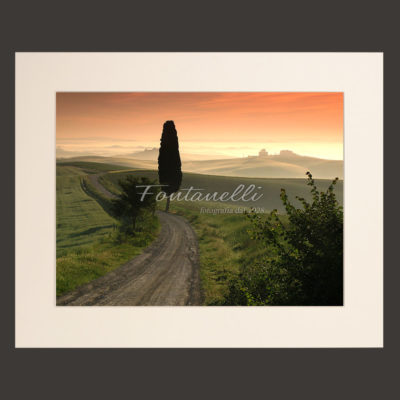 tuscany landscape picture for sale passepartout 2