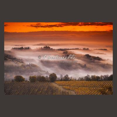 foto alba campagna toscana