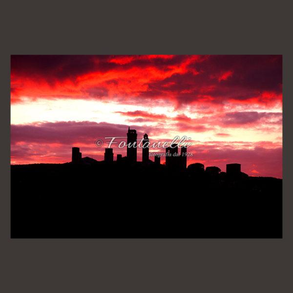 foto san gimignano tramonto