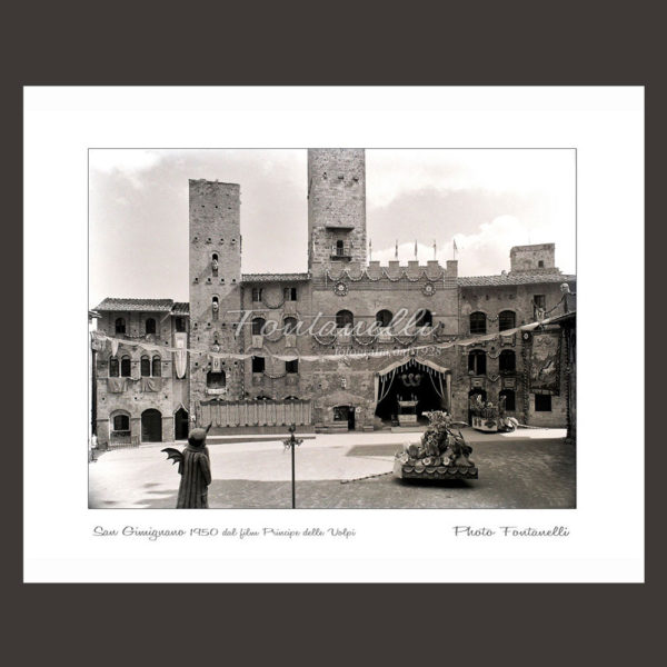 historic picture san gimignano tuscany black and white 56