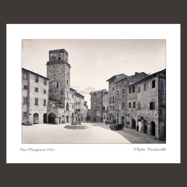 historic picture san gimignano tuscany black and white 51