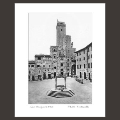 historic picture san gimignano tuscany black and white 30