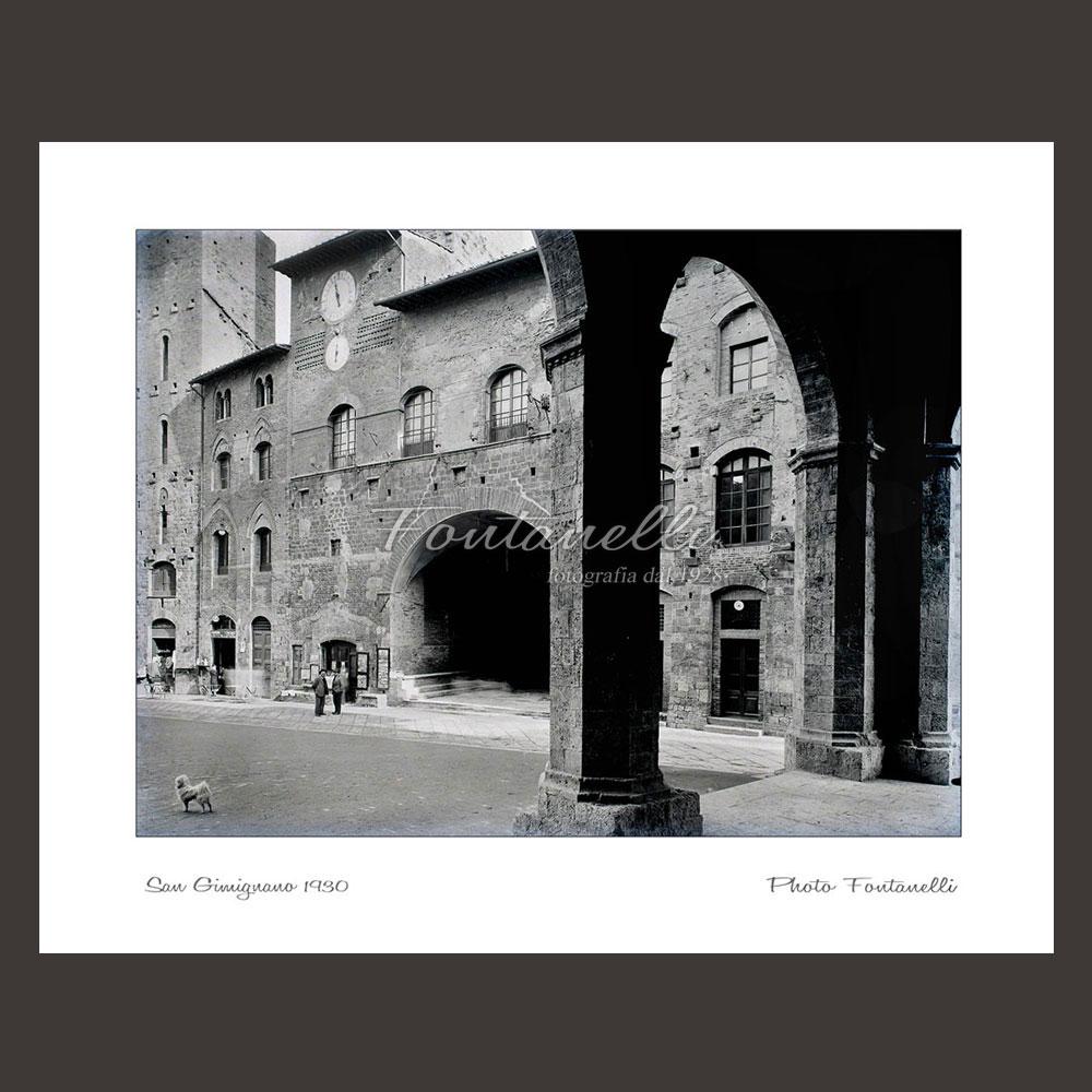 historic picture san gimignano tuscany black and white 62