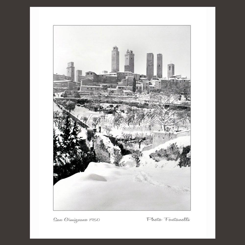 historic picture san gimignano tuscany winter