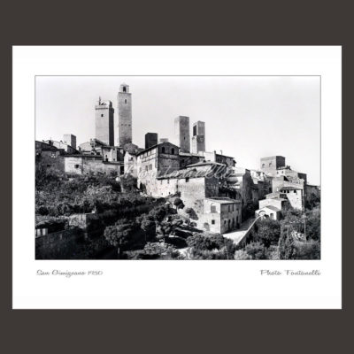 historic picture san gimignano tuscany black and white 60
