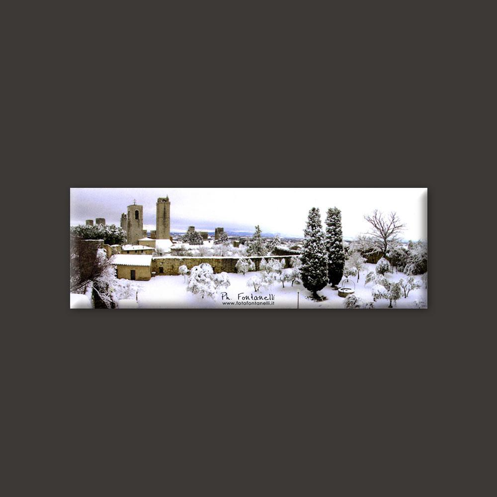 Tuscany, San Gimignano winter magnet #1