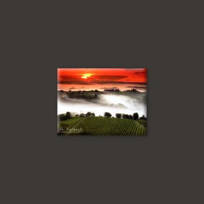 Tuscany landscape sunset magnet