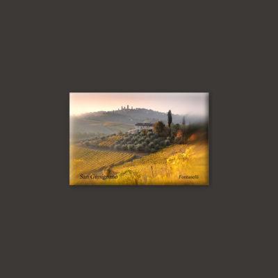 San Gimignanoa and Tuscanny landscape magnet