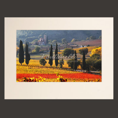 tuscany picture passepartout