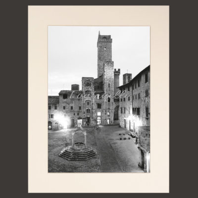 San Gimignano and Tuscany black and white picture for sale