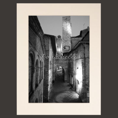 San Gimignano and Tuscany black and white picture for sale 8