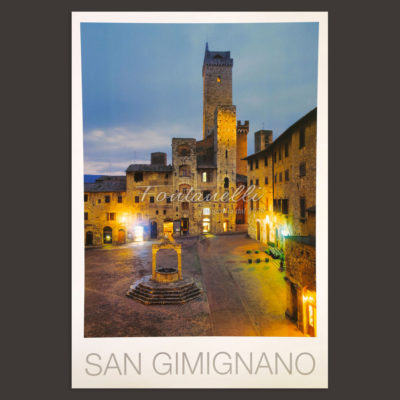 San Gimignano town poster for sale 2