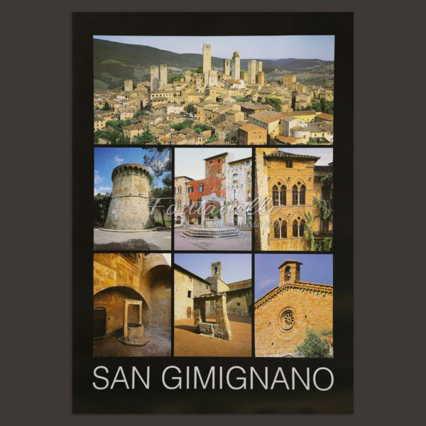 San Gimignano town poster for sale