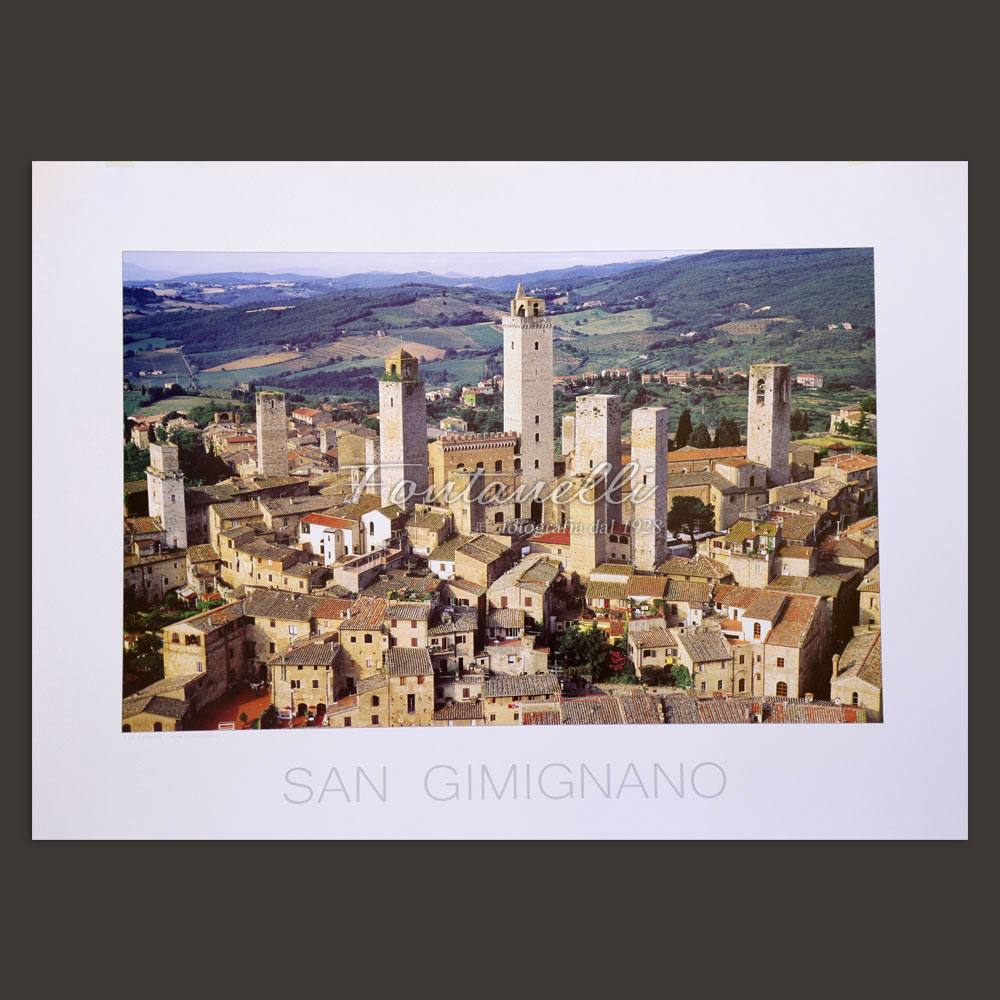 San Gimignano and Tuscany poster for sale online 1