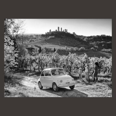 Fra le vigne di San Gimignano con la Fiat 500
