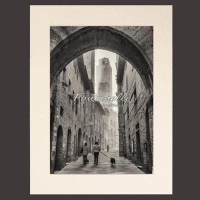 Foto arco della Cancelleria, Bianco e nero, San Gimignano