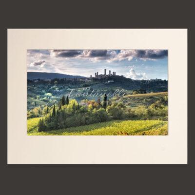 Panorama di San Gimignano Autunno 2018, Toscana